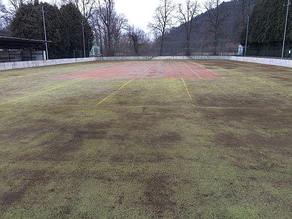 Umělá tráva po 8 letech bez údržby