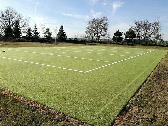 Mech na golfovém greenu a sportovišti z umělé trávy