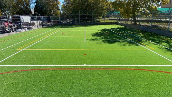 Renovace antukového povrchu na umělou trávu